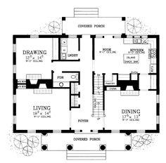 Greek revival old southern plantation house floor plans for Greek revival farmhouse plans