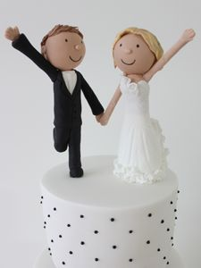 Pastel de Bodas con Novios #wedding #cake