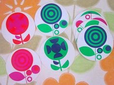 10 Vintage 1970s Coasters by Pommedejour on Etsy, $22.99