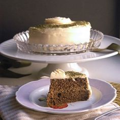 Green Tea Layer Cake with Honey Buttercream Frosting