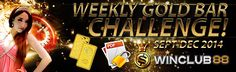 WEEKLY GOLD BAR CHALLENGE   FROM SEPT-DEC 2014, EACH WEEK WE ARE GIVING OUT PURE GOLD BAR!