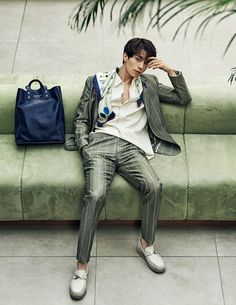 Vibrant sportswear, contemporary tailoring and exceptional accessories—actor Lee Dong Wook, 이동욱, takes a star turn in pieces from the Ferragamo Spring 2017 Men's collection in the March issue of Arena Homme Plus Korea. Korean Wave, Korean Star, Korean Guys, Lee Dong Wok, Park Hyung, Song Joong, Choi Jin, Park Bo Gum, Vogue Korea