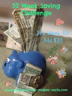 Blog'n Cents 52 Week Savings Challenge, Saving Money, Finance, Challenges, Learning, How To Make, Save My Money, Studying, Teaching