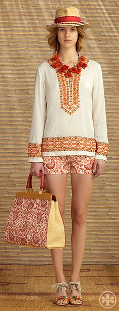 :: Tory Burch Resort 2014 ::  Head to Toe Tory! LOVE it all! But the bag and shoes are just Perfect!