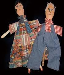 Wooden spoon puppets with great looking clothes