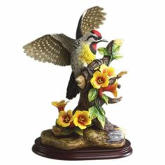 Amazon Com Andrea By Sadek Yellow Bellied Woodpecker Bird Figurine Collectible Figurines Pottery Designs Porcelain Art Porcelain Figurines