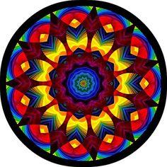 Rainbow Star by Ate My Crayons. Rainbow Star, Rainbow Colors, Kaleidoscope Images, Mandela Art, Rangoli Kolam Designs, Wow Art, Mandala Coloring, Yin Yang, Fractal Art