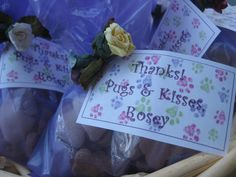 Rosey's 10th Birthday party. Favors for a dog birthday party.