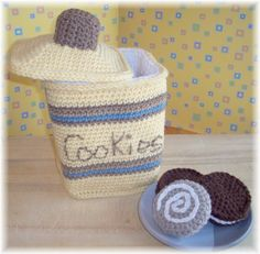 Crochet Cookie Canister and Cookies...PDF Pattern by KTBdesigns