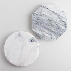 Mini Geo White Marble Cutting Boards Set of 2 | World Market