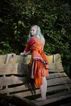 Gypsy dress Boho dress Bohemian clothing Woodland wedding dress Size Medium M UK 12 - 14 US 8 - 10. £72.99, via Etsy.