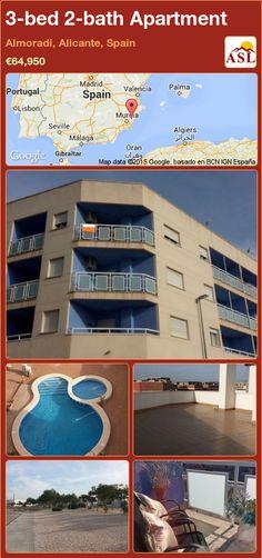 3-bed 2-bath Apartment in Almoradi, Alicante, Spain ►€64,950 #PropertyForSaleInSpain
