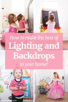 How to make use of indoor lighting, and to find backgrounds and backdrops in your home!