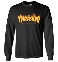 Amazing Thrasher Flame Short Sleeve Skateboard Long Sleeve Shirt Check more at https://crazeline.com/product/thrasher-flame-short-sleeve-skateboard-long-sleeve-shirt/