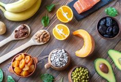 Buy Foods That Are High in Potassium by on PhotoDune. Healthy Foods That Are High in Potassium Healthy Drinks, Healthy Recipes, Healthy Foods, No Dairy Recipes, Fruits And Veggies, Health And Nutrition, I Foods, Food Photography, Salmon