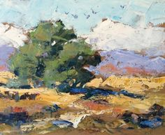 LARGE CALIFORNIA IMPRESSIONIST LANDSCAPE by TOM BROWN, painting by artist Tom Brown