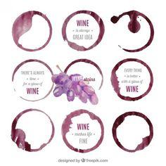 les taches de vin Vecteur gratuit