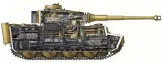 tanks-a-lot:  Tiger tank cross-section