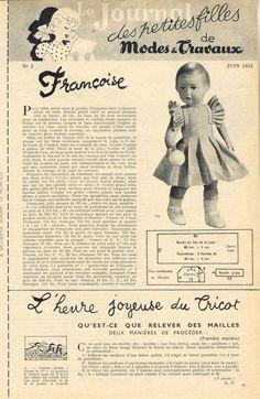 PAR AMOUR DES POUPEES :: M&T 1953-06 robe en percale rayée pour Françoise (couture)