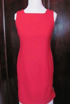 Bloomingdales Red Sleeveless Dress Size 6 #Bloomingdales #Sheath #Festive