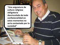 El Sr. Pere Micaló defiende una asignatura de religión aconfesional. (11 de junio de 2013)