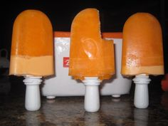 "Orange ""Mousse"" Ice Pops"