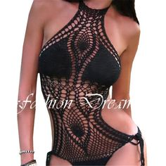 Crochet Swimsuit, Jumpsuit Bodysuit Bathing Suits