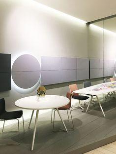 Parentesit wall panels + new Meety tables design lievore altherr molina