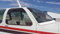 """Desert Rat aviation did a right side window replacement with LP Aero Plastics purchase & installed to this amazing Beechcraft Debonair! """"Debbie"""" is looking more and more beautiful!!!!"""