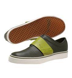 El Rey Cross Perforated Slip-On Shoes. Had to have a GREEN pair.