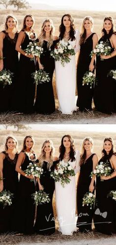 A-Line Mismatched Black Custom Cheap Long Bridesmaid Dresses - A-Line Mismatched Black Custom Cheap Long Bridesmaid Dresses Online,VP – VeryProm Source by verypromco - Different Bridesmaid Dresses, Burgundy Bridesmaid Dresses Long, Black Bridesmaids, Bridesmaid Dresses Online, Wedding Bridesmaid Dresses, Bridal Party Dresses, Sheath Wedding Gown, V Neck Wedding Dress, Classic Wedding Dress