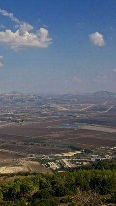 Jezreel Valley. Site if Armegeddon. Israel.