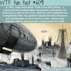 Image detail for -Paris at the Century Picture dirigible, steampunk, fantasy) Jules Verne, Wtf Fun Facts, Funny Facts, Random Facts, Dirigible Steampunk, The More You Know, Dieselpunk, History Facts, Trivia