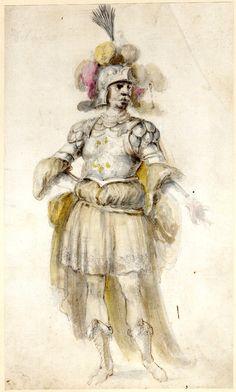 Costume for Delmiro by Stefano della Bella.