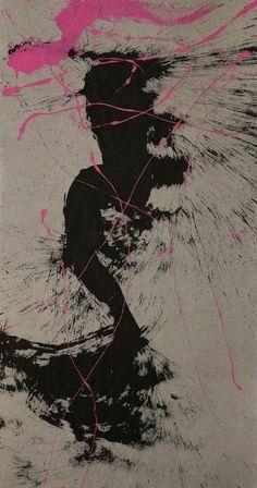 Qin Feng | Desire Decorado no. 8787 (2012).Tinta y acrílico sobre papel de algodón de seda.Adición