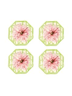 New York Botanical Garden Peony Cocktail Plates - Set of 4 Oscar de la Renta