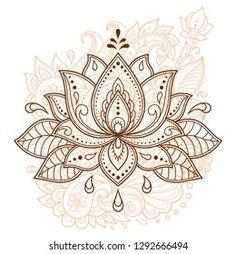 Lotus Tatoo, Lotus Flower Henna, Lotus Flower Tattoo Design, Mandala Tattoo Design, Mandala Drawing, Mandala Art, Lotus Flower Drawings, Lotus Drawing, Mehndi Flower