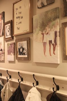 LOVE how she framed her daughter's letter and incorporated it into the gallery wall.
