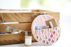Colourful Kit - a rich craft kit with fabric, papers, ribbons, washi, embroidery hoop and so much more