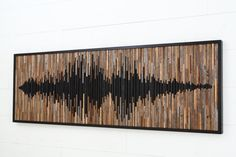 Sound Wave Skulptur, abstrakte Klangwelle, Altholz Wandkunst, große Wandkunst, - This product is made to order and has a week lead time before shipping. I send photos for your - Reclaimed Wood Wall Art, Wooden Wall Art, Large Wall Art, Wood Art, Wood Sculpture, Wall Sculptures, Diy Tableau, Wood Mosaic, Deco Originale