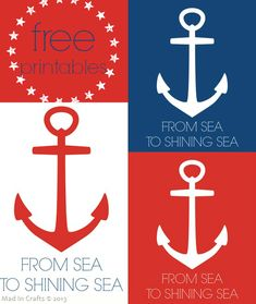 Free Patriotic Printables Printables Mad in Crafts Patriotic Party, Patriotic Crafts, Patriotic Decorations, Sea To Shining Sea, Craft Free, God Bless America, Journal Cards, Printable Wall Art, Fourth Of July