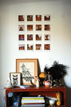 in love with polaroid displays