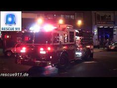 FDNY Fire Response - E24, NEW tiller L5, E33, Purple K unit - YouTube