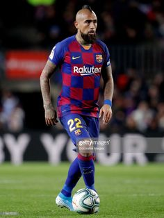 Arturo Vidal of FC Barcelona during the La Liga Santander match between FC Barcelona v Granada at the Camp Nou on January 2020 in Barcelona Spain Get premium, high resolution news photos at Getty Images Soccer Guys, Messi And Ronaldo, Golf Stores, Camp Nou, One Team, Barcelona Spain, Fifa, Marc Andre, Football