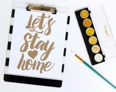 Let's Stay Home Free SVG Cut File