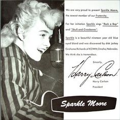 Sparkle Moore - Rock-A-Bop / Skull and Cross Bones (1956 rockabilly single on Fraternity Records)