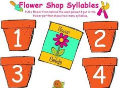 Weekly Freebie: FREE Reading Resource  Free fromYoung and Lively Kindergartenon TpT    Flower Shop Syllables for ActivBoard