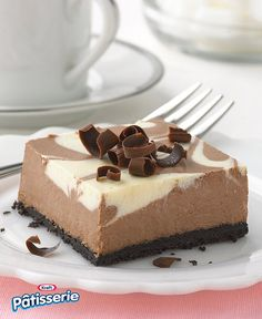 Create a simply marble-ous Chocolate-Vanilla Swirl Cheesecake with PHILADELPHIA Cream Cheese. Chocolate-Vanilla Swirl Cheesecake is a showstopper! Chocolate Swirl Cheesecake, Cheesecake Bars, Cheesecake Recipes, Dessert Recipes, Marble Cheesecake, Lemon Cheesecake, Pie Recipes, Cupcakes, 4 H