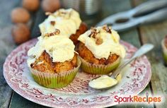 95 Calorie Carrot Ginger Muffins Recipe by SQUIRRELLYPOO via @SparkPeople