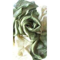 Olive Green Silk Shawl Handwoven Pure Raw Silk Accessories Wedding... ($22) ❤ liked on Polyvore featuring accessories, scarves, silk shawl, shawl scarves, pure silk scarves, lightweight scarves and silk scarves